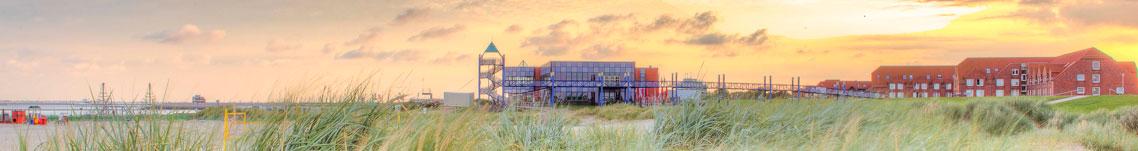 Strand Norddeich bei Daemmerung