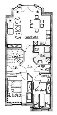 Raumplan Wohnung Jonathan Norddeich